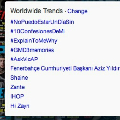 #AskVicAP trending worldwide on Twitter! Submit your questions before our Pierce The Veil Twitter takeover ends in about 10 minutes!
