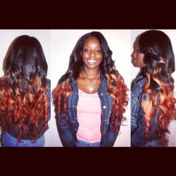My client Jennifer — full weave w/ lace closure. Brazilian hair from @hair4uboutique (4 bundles / 26-30in) #hairstylist #sewin #weave #laceclosure #brazilianhair