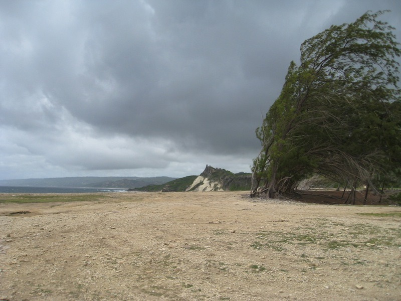 Northeastern corner of Barbados. It is VERY windy there.