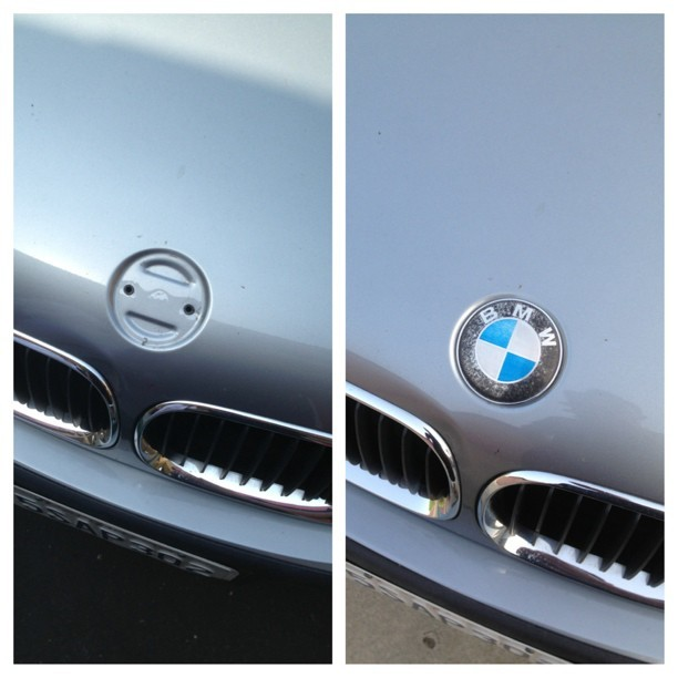 Some mofo stole my roundel 😡 had to put the old one back on. @m3pare @nursexmoni @e46m3lol @sampsonbuilt  (at The Peralta Zone)