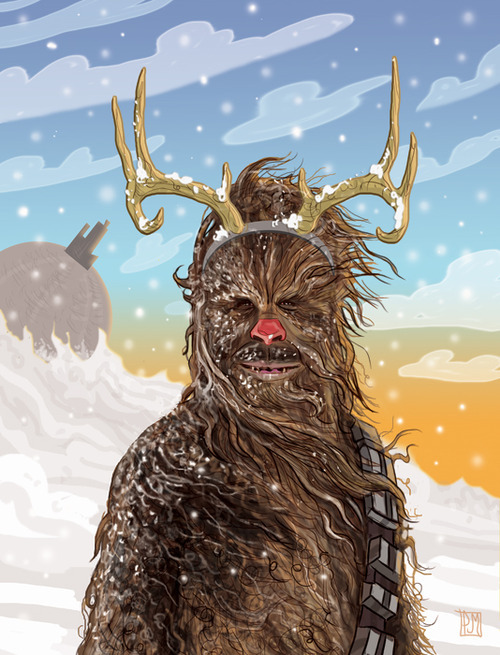 Chewbacca the Red Nosed Reindeer by PJ McQuade