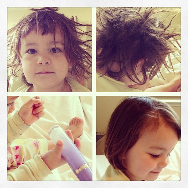 Epic bed head tamer. Tips'n'tricks for my fellow moms. ;-)