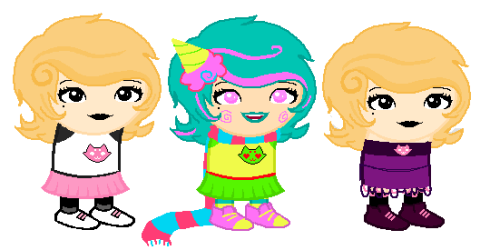 bikini-straps:  Roxy sprite edits.EDIT: Centered the mouths the best to my abilities c: