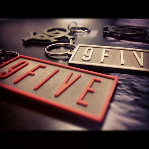 New acetate #9FIVE and #9F keychains will hit 9fivesite.com tomorrow (at www.9fivesite.com)