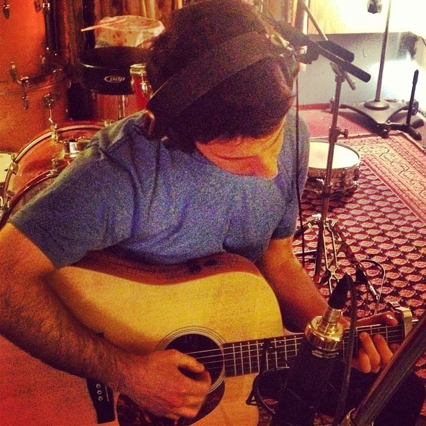 Mr @chadvaccarino playing guitar in the studio for the first time ever.