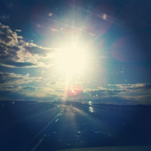 Chasing the sun. #roadtrip