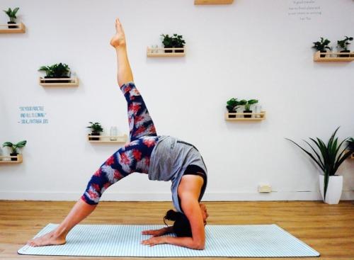 yoga pose on Tumblr
