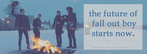 new cover photo from Fall Out Boy never die. Facebook Page.