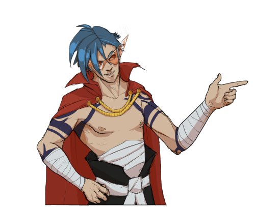 malusdraco:  gotta love kamina (cape wasn't really but looks like it was referenced a lot from this) (also goddang simon is TALLER than kamina at the end i'm cry)