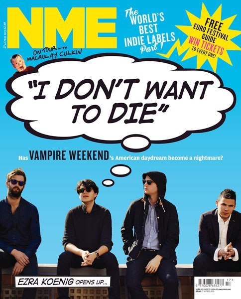 """I don't want to die"" : This week's NME cover featuring Vampire Weekend"