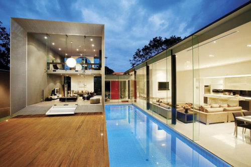 cool. pool and a patio floor/room
