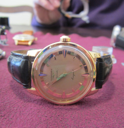 omegaforums:  Vintage Longines Conquest Automatic In 18K Gold Circa 1950s