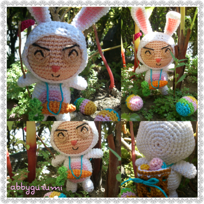 Happy Easter!! My amigurumi Cottontail Teemo of League of Legends.
