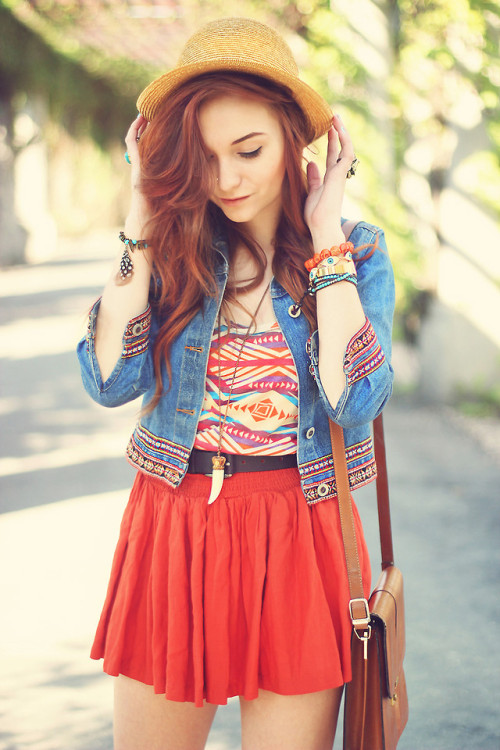 lookbookdotnu:  ORANGE SPRING (by Alice Cross)