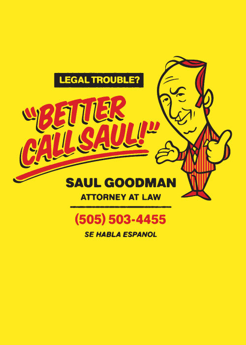 robotcosmonaut:  Better Call Saul! via spencerfruhling