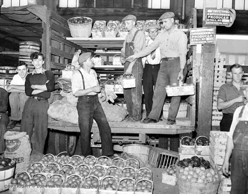detroitland:  The George Kohl stall at Eastern Market in the 1930s