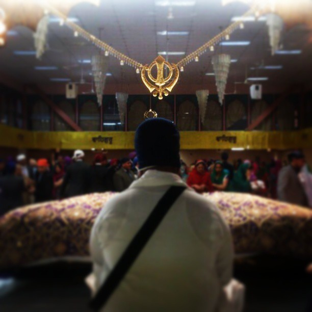 The Gurudwara is such a beautiful place. #Gurudwara #Sikh #Khanda #GuruGranthSahib #Singh