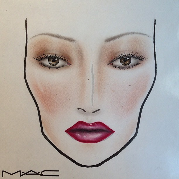 Victorian lady. #maccosmetics #ilovemaciggirls #facechart