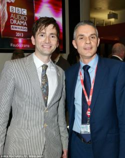 "#davidtennant and Tim Davie, BBC Director General at last nights Audio Drama Awards David's intro: ""Last year was a great one for Britain We mounted the triumphant Olympics, we celebrated the glorious Jubilee and we got the Americans to keep Piers Morgan"""