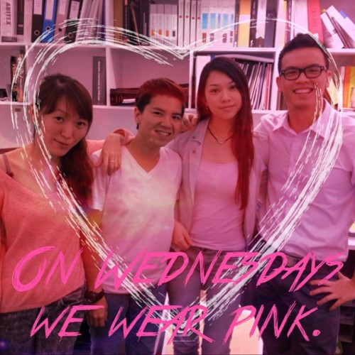#pink #Wednesday #colleagues #meangirls @ivorybells @estaang