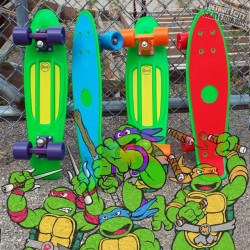 The @Pennyskateboards x Ninja Turtles limited edition release hits the shelves of DCS shops. COWABUNGA DUDE! All avail in-store and online. #penny #pennyskateboards #pennycruisers #ninjaturtles #skateboards #skateboarding #skateeverydamnday #michigan #detroitcityskateboards