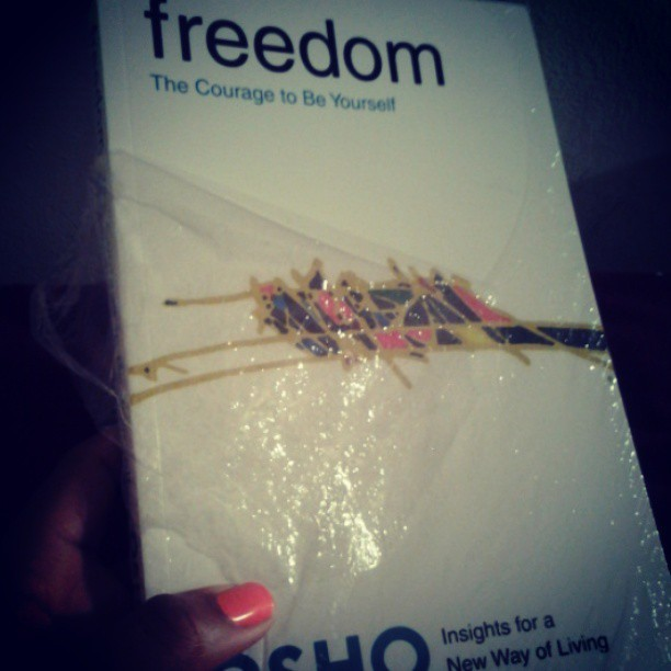 best graduation gift by far!! Thanks so much @paintme_indigo #osho #freedom