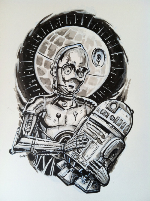 Finished! #starwars #tattoo #ink #illustration #art