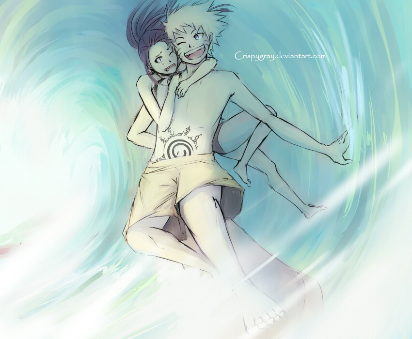 crispygray:  Another Naruhina Commission from Deviantart :]