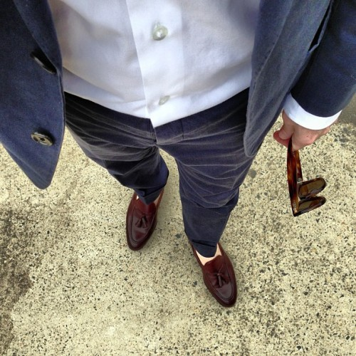 hespokeshespoke:  Tieless start to the week. #hurryupchristmas