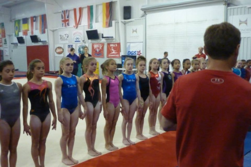 gymnasticstogo:  USA Development Team at camp this past week training under Valeri Luikin.