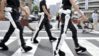 "neurosciencestuff:  Japan's Robot Suit Gets Global Safety Certificate A robot suit that can help the elderly or disabled get around was given its global safety certificate in Japan on Wednesday, paving the way for its worldwide rollout. The Hybrid Assistive Limb, or HAL, is a power-assisted pair of legs developed by Japanese robot maker Cyberdyne, which has also developed similar robot arms. A quality assurance body issued the certificate based on a draft version of an international safety standard for personal robots that is expected to be approved later this year, the ministry for the economy, trade and industry said. The metal-and-plastic exoskeleton has become the first nursing-care robot certified under the draft standard, a ministry official said. Battery-powered HAL, which detects muscle impulses to anticipate and support the user's body movements, is designed to help the elderly with mobility or help hospital or nursing carers to lift patients. Cyberdyne, based in Tsukuba, northeast of Tokyo, has so far leased some 330 suits to 150 hospitals, welfare and other facilities in Japan since 2010, at 178,000 yen ($1,950) per suit per year. ""It is very significant that Japan has obtained this certification before others in the world,"" said Yoshiyuki Sankai, the head of Cyberdyne. The company is unrelated to the firm of the same name responsible for the cyborg assassin played by Arnold Schwarzenegger in the 1984 film ""The Terminator"". ""This is a first step forward for Japan, the great robot nation, to send our message to the world about robots of the future,"" said Sankai, who is also a professor at Tsukuba University. A different version of HAL — coincidentally the name of the evil supercomputer in Stanley Kubrick's ""2001: A Space Odyssey"" — has been developed for workers who need to wear heavy radiation protection as part of the clean-up at the crippled Fukushima nuclear plant. Industrial robots have long been used in Japan, and robo-suits are gradually making inroads into hospitals and retirement homes. But critics say the government has been slow in creating a safety framework for such robots in a country whose rapidly-ageing population is expected to enjoy ever longer lives."