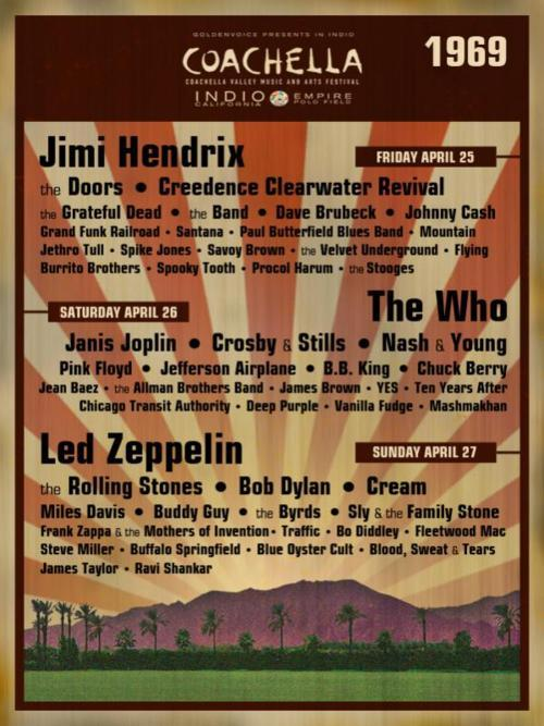 Not a real poster but shit this would've been the best concert/festival ever