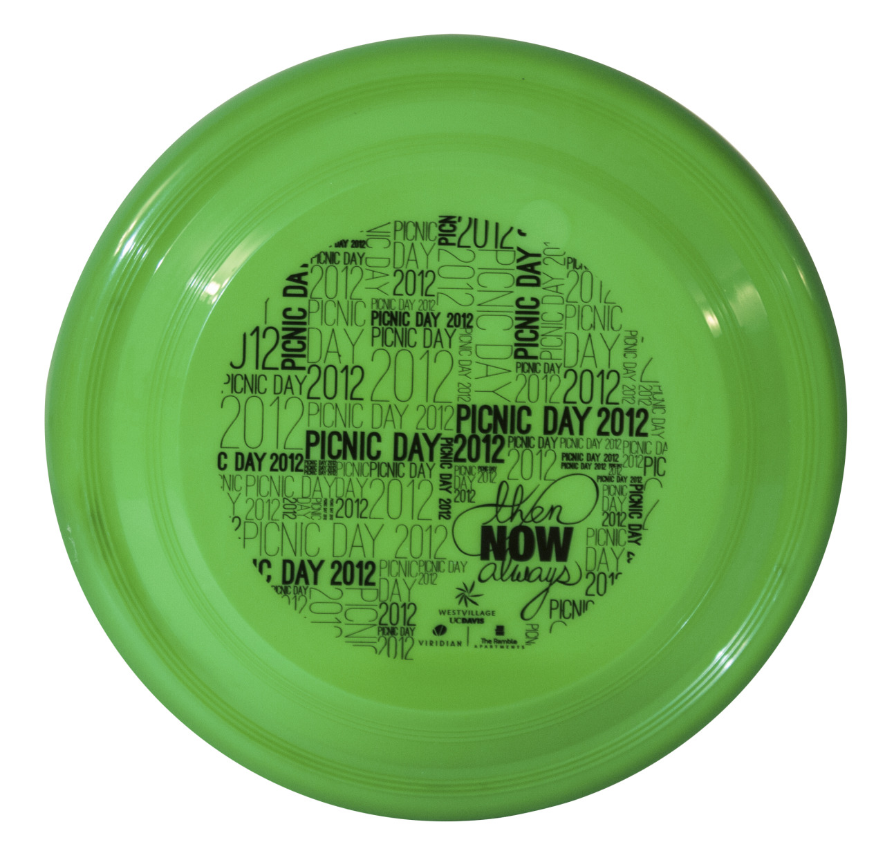 what could be more fun to design than a frisbee? That's right, NOTHING! Here's a frisbee I designed as a promotional piece for UC Davis Picnic Day, which just happens to be the largest student-run event in the country. I can't decide what was more fun, designing this or tossing them out to eager students.
