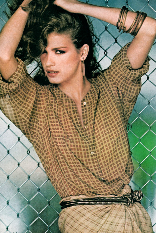 Gia Carangi in Vogue, January 1979