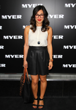 MYER AUTUMN/WINTER 2013 FASHION LAUNCH - MELANIE VALLEJO  Thursday night was a night of glitz and glamour at the Melbourne city Myer store, as the biggest faces of Australian fashion celebrated the launch of the department store's Autumn/Winter 2013 fashion range. Sporting the latest leather, lace and peplum were hottest of the hottest including Jennifer Hawkins and Alexandra Agoston.  Male eye candy was also  present of course in the form of Mr Kris Smith!Check out the photos from the catwalk and red carpet here - who was YOUR best dressed? Image Source: Zimbio