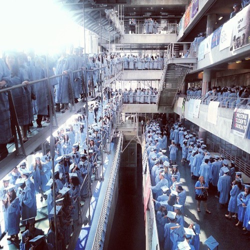 05212012 #Columbia Blue Everywhere!!! :) // #ColumbiaUniversity #Senior #Graduation  (at Lerner Hall - Columbia University)