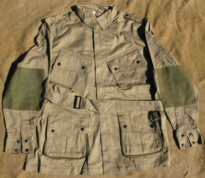govnetso:  American issue M42 jacket, used by Airborne Infantry during WW2