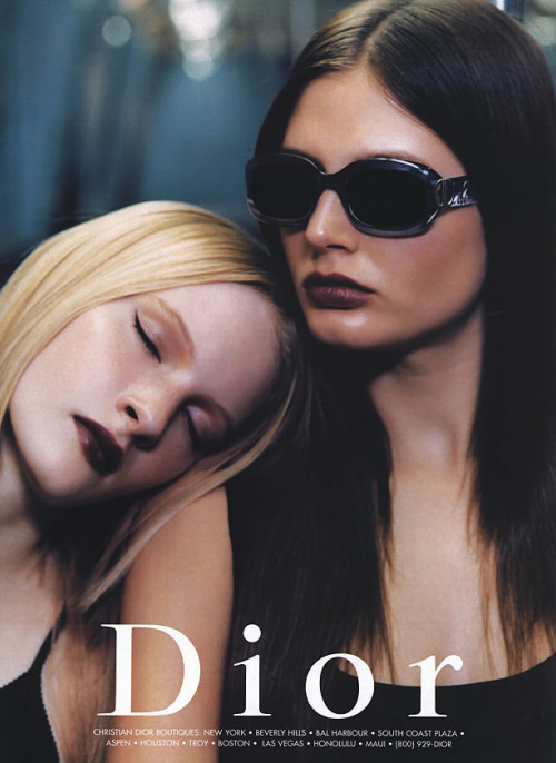 Dior S/S 1999Photographer : Patrick DemarchelierModels : Linnea Marklund & Bridget Hall