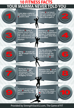 Infograph: 10 Fitness Facts your Mamma Never Told You