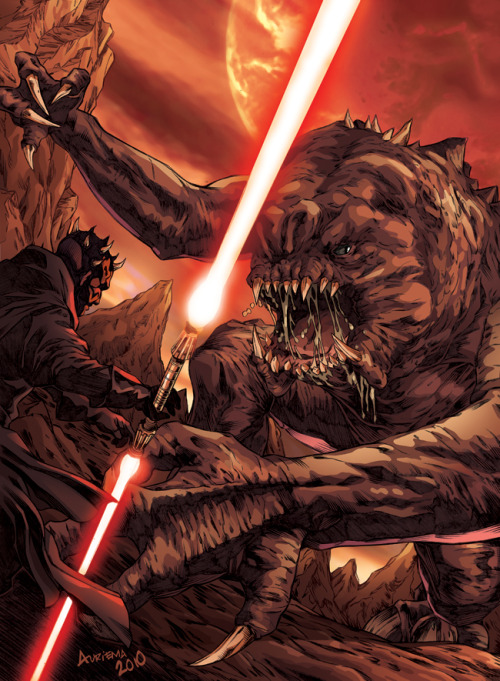 johnny-dynamo:  Darth Maul vs. Rancor