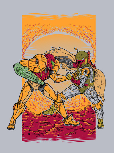 Bounty Hunting by MeleeNinja (Society6) Available as a print, t-shirt or tote bag! Check out the artist: Society6//RedBubble