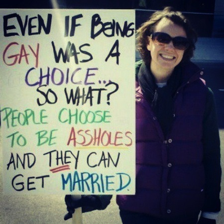 Pro-Gay Marriage Signs