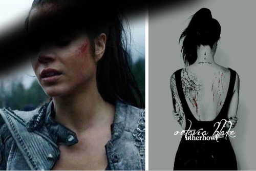 inherhowl:i wasn't born to be soft and quiet. – i was born to make the world       shatter and shake at my fingertips. / canon divergent octavia blake, by maverick.