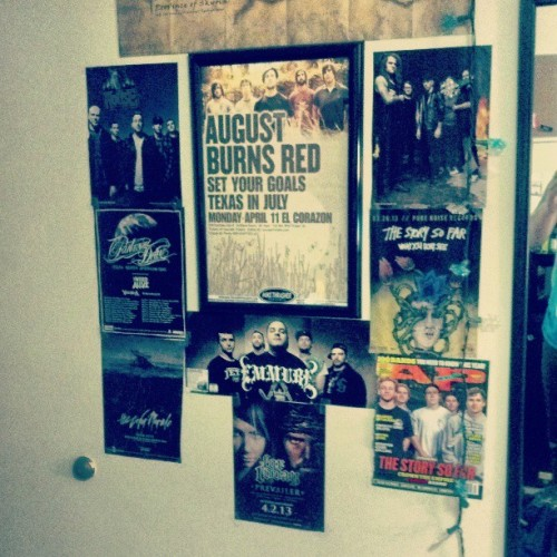moshes-for-jesus:  Added some new posters to the wall. #Dorm #ForToday #TSSF #TCM #PWD