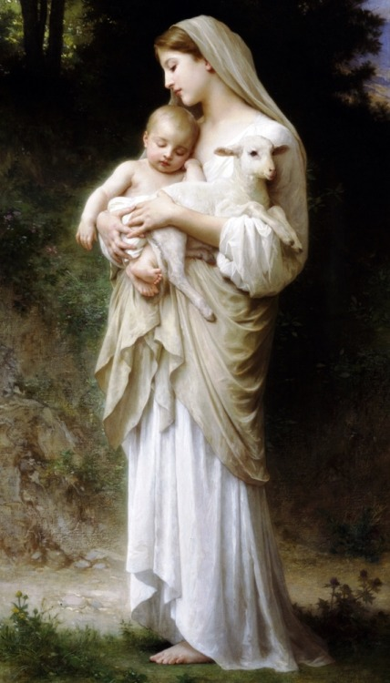 musiciansandpainters:  Innocence by William-Adolphe Bouguereau, 1893.
