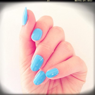 Just in to this solid baby blue swatch for spring! Color from @the_new_blacktv x@mpnails Nile kit.