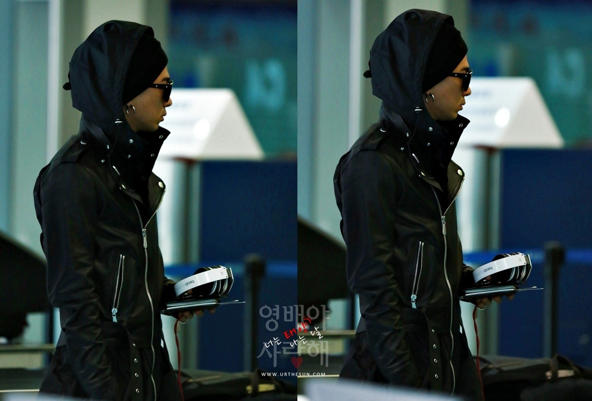 [HQ] Taeyang at Incheon Airport back from Nanjing, China (130303) Source: URTHESUN