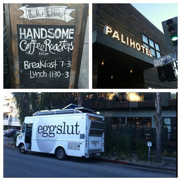 Our new M-F 7-11a breakfast location @Palihotel 7950 Melrose Avenue, Los Angeles! @HandtheH x @HandsomeRoaster x @EggSlutLA