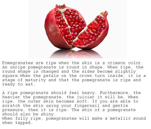 HOW TO TELL IF POMEGRANATES ARE RIPE more about fruit