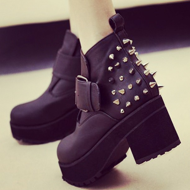 holigun:  My new shoes #boots #wait #spike #platformshoes #platform #shoes